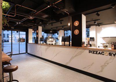 Design, équipement et gestion de chantier - Pizza Cosy Vienne