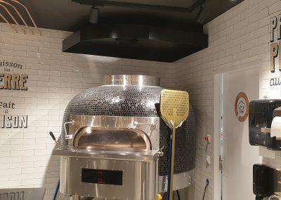 Design total d'un restaurant, matériel de cuisine et mobilier – Pizza Cosy Villeurbanne